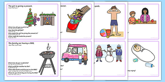 Inference Picture and Question Cards Arabic Translation - arabic, inference, SEN, games