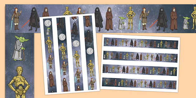 Space Wars Themed Display Border - space wars, star wars, display border, display, border
