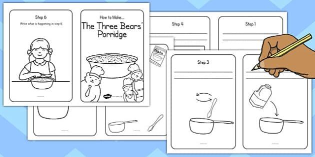 Writing Your Own Porridge Instructions Template - porridge, write