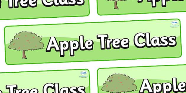 Apple Tree Themed Classroom Display Banner - Themed banner, banner, display banner, Classroom labels, Area labels, Poster, Display, Areas