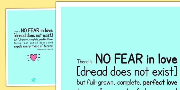 There is No Fear in Love' Bible Scripture Motivational Poster