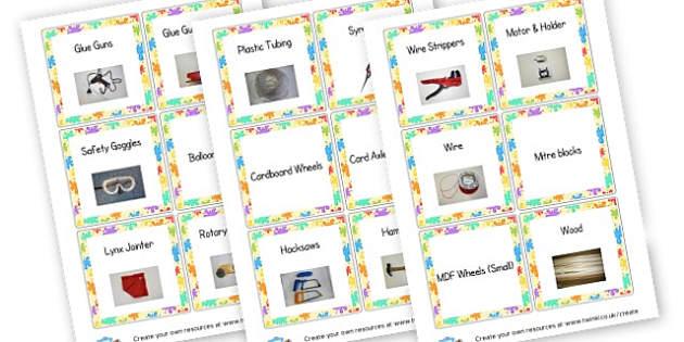 Design & Technology Labels - Design & Technology Primary Resources - Art, design, create, craft