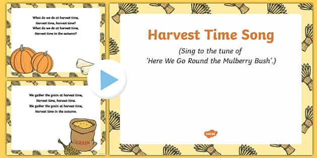 Harvest Time Song PowerPoint
