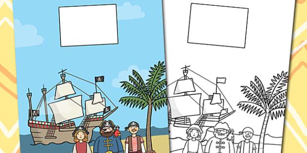 Pirate Themed Calendar Template - calendar, pirate, template