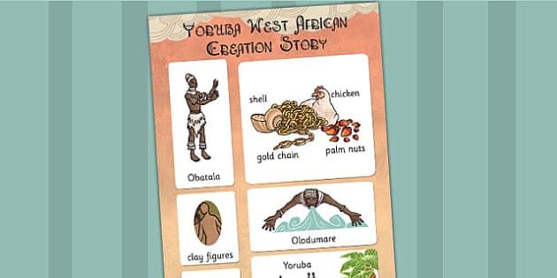 Kingdom of Benin: Yoruba Creation Story Vocabulary Mat