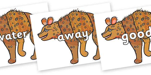 Next 200 Common Words on Hyena to Support Teaching on The Bad Tempered Ladybird - Next 200 Common Words on  - DfES Letters and Sounds, Letters and Sounds, Letters and sounds words, Common words, 200 common words