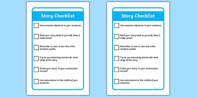 IKEA Tolsby Story Writing Check List Prompt Frame