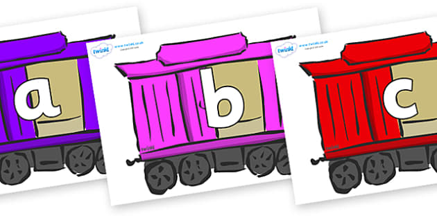 Phoneme Set on Carriages - Phoneme set, phonemes, phoneme, Letters and Sounds, DfES, display, Phase 1, Phase 2, Phase 3, Phase 5, Foundation, Literacy
