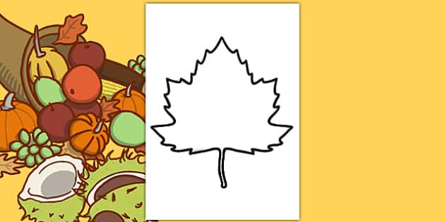 Blank Fall Leaf Template - blank, fall leaf, template, fall, leaf, seasons