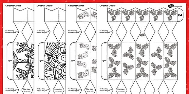 Mindfulness Colouring Christmas Cracker Craft - mindfulness, colouring, christmas, cracker, craft