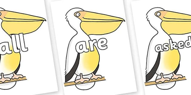 Tricky Words on Pelican to Support Teaching on The Great Pet Sale - Tricky words, DfES Letters and Sounds, Letters and sounds, display, words