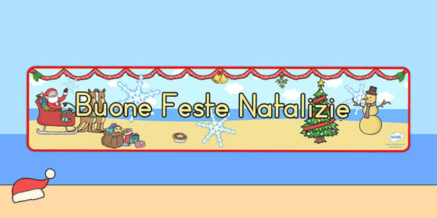 Australia Christmas Display Banner Italian - christmas, banner, italian