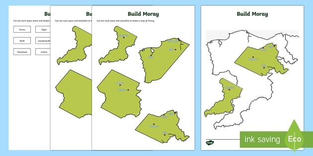 Local Authority Map Jigsaw   Moray Map-Scottish