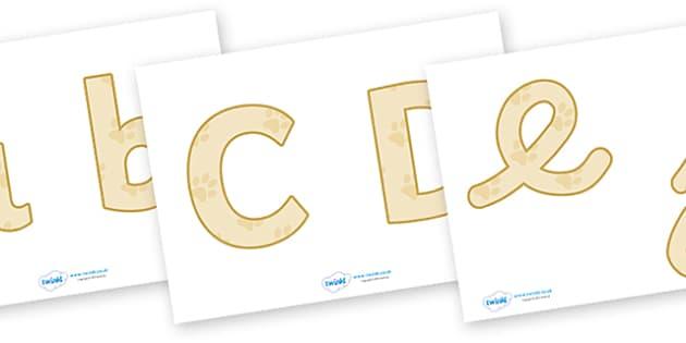 Display Lettering & Symbols (Pets) - Display lettering, display letters, alphabet display, letters to cut out, letters for displays, coloured letters, coloured display, coloured alphabet, pets, cat, dog, rabbit, mouse, guinea pig, rat, hamster, gerbi