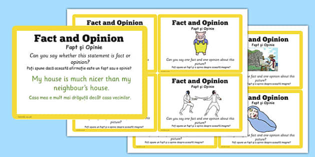 Guided Reading Skills Task Cards Fact and Opinion Romanian Translation - romanian