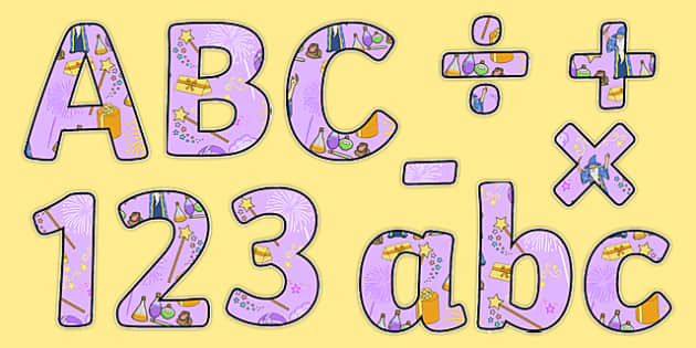 Magic Maths Display Letters and Numbers Pack - magic maths, display letters, display numbers, pack