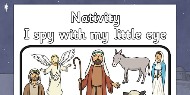 I Spy With My Little Eye Nativity Activity - I spy, little eye, christmas, activity, nativity