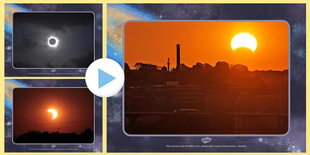 Solar Eclipse Photo PowerPoint - solar eclipse, photo, powerpoint