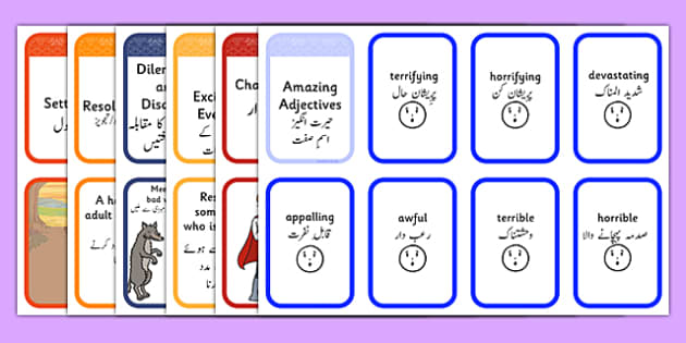 Story Writing Prompt Cards Pack Urdu - story writing, prompts, activity, pack, creative writing, story planning, plot planner, plot, cards, ks1, ks2, adventure, stories, ficion, narrative, storytelling, oral, sequence, plan, write,storeys,adjacent co