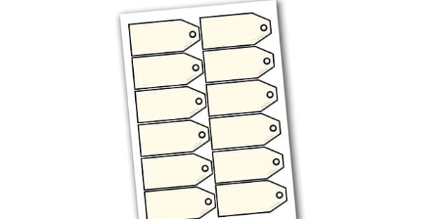 Charity Shops Blank Price Tags - charity shop, labels, chairty, charity shop price labels, blank price labels, charity shop props, charity shop item labels