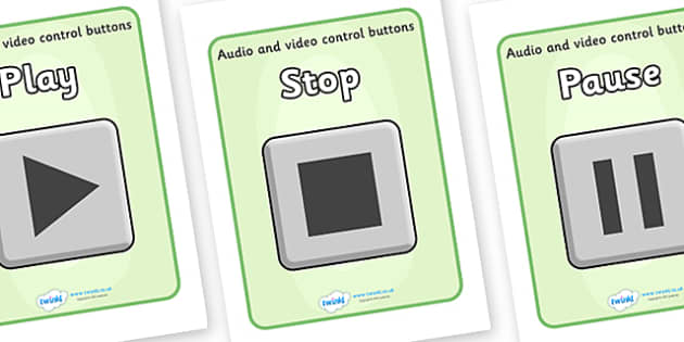 Audio And Video Control Buttons Display Posters - audio and video control buttons display poster, audio and video, control buttons, buttons, display, poster, sign, banner, audio, video