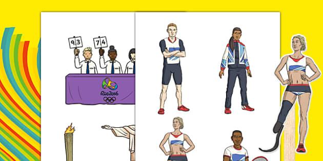 Rio Olympics 2016 Stick Puppets - rio olympics, 2016 olympics, rio 2016, stick puppets, stick, puppets