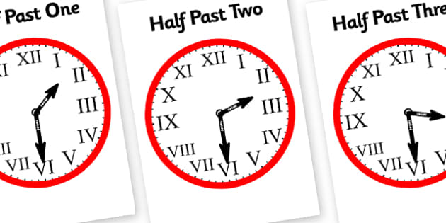 Romans Numerals Clocks Half Past-roman numerals, half past, clocks, half past clocks, roman numeral clock, hours, minutes, seconds, time