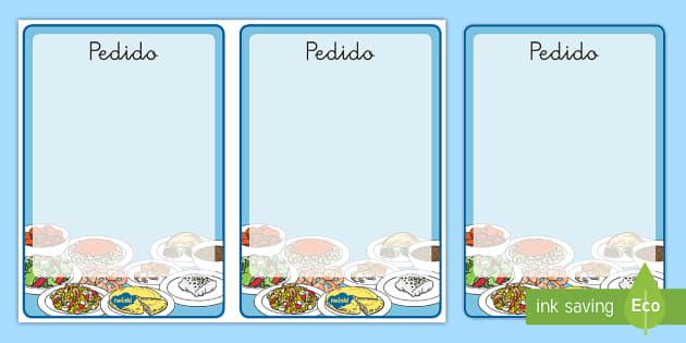 Formulario de pedido de juego de rol: El restaurante - comer sano, comida sana, comer saludable, comida saludable, fruta, verdura, dieta saludable, dieta s
