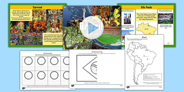 KS1 Brazil Lesson Teaching Pack - brazil, teaching pack, lesson