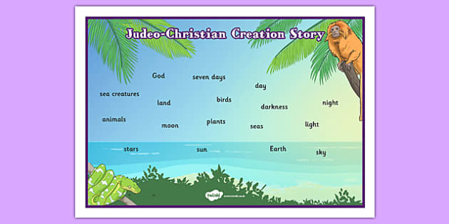 Judeo Christian Creation Story Word Mat