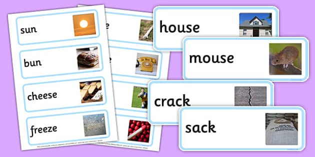 Photo Rhyming Word Cards - photo rhyming, word cards, photo, rhyming