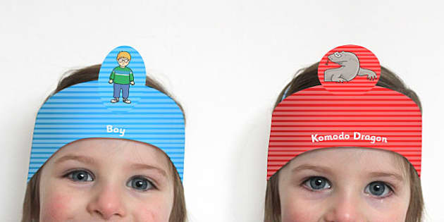 Role Play Headbands to Support Teaching on The Great Pet Sale - roleplay, props, stories