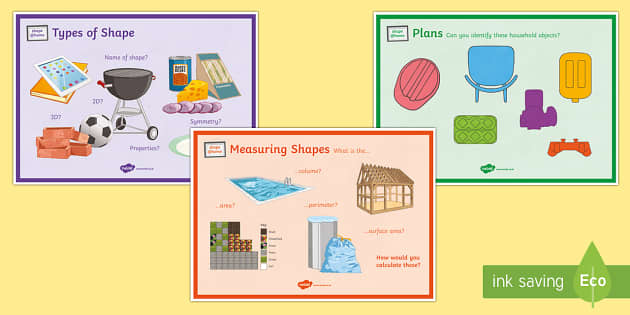 Shape@Home A4 Display Poster - Maths@Home, shape, area, volume, perimeter