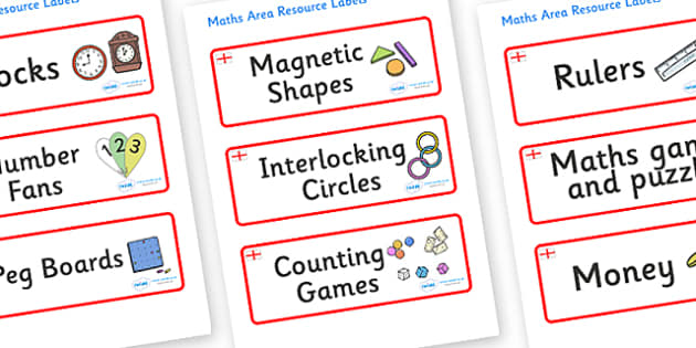 England Themed Editable Maths Area Resource Labels - Themed maths resource labels, maths area resources, Label template, Resource Label, Name Labels, Editable Labels, Drawer Labels, KS1 Labels, Foundation Labels, Foundation Stage Labels, Teaching Lab