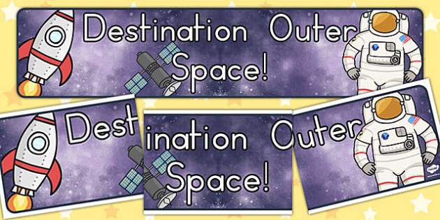 Destination Outer Space Topic Display Banner - australia, space