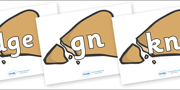 Silent Letters on Egyptian Flatbread - Silent Letters, silent letter, letter blend, consonant, consonants, digraph, trigraph, A-Z letters, literacy, alphabet, letters, alternative sounds