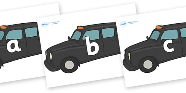 Phase 2 Phonemes on Taxi Cabs - Phonemes, phoneme, Phase 2, Phase two, Foundation, Literacy, Letters and Sounds, DfES, display