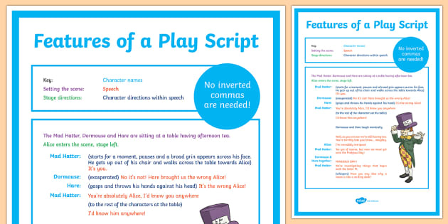 Features of a Play Script Display Poster - australia, display