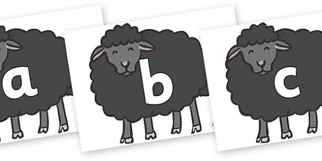 Phoneme Set on Baa Baa Black Sheep - Phoneme set, phonemes, phoneme, Letters and Sounds, DfES, display, Phase 1, Phase 2, Phase 3, Phase 5, Foundation, Literacy