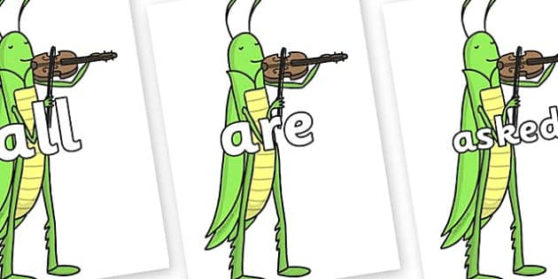 Tricky Words on Grasshopper - Tricky words, DfES Letters and Sounds, Letters and sounds, display, words