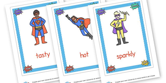 Superhero Vocabulary Posters - Superheroes, Literacy,  Primary Resources, superhero, role play,