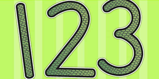 Reptile Skin Themed Display Numbers - numbers, display numbers