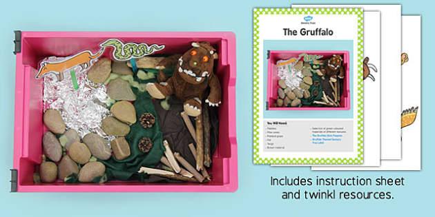 The Gruffalo Sensory Tray Printable Resource Pack - gruffalo