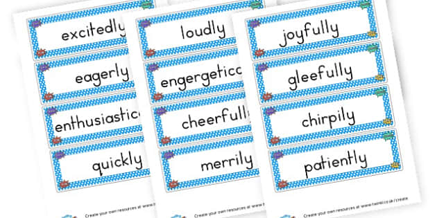 Adverbs Flash Cards - KS2 Verbs and Adverbs Primary Resources, Verbs, Adverbs, KS2 Words