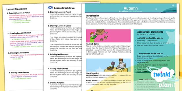 PlanIt - Art LKS2 - Autumn Planning Overview CFE - Art, art and design, autumn, season, KS2, year 3, year 4
