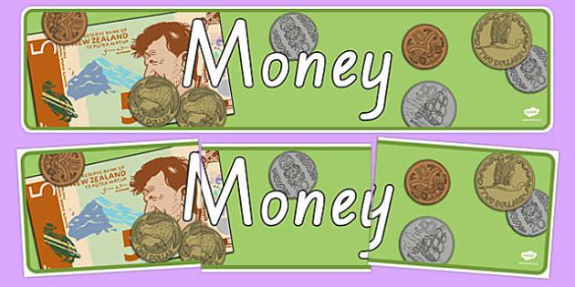 New Zealand Money Display Banner