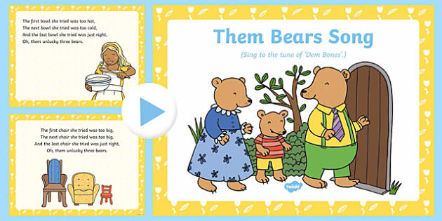 Them Bears Song PowerPoint