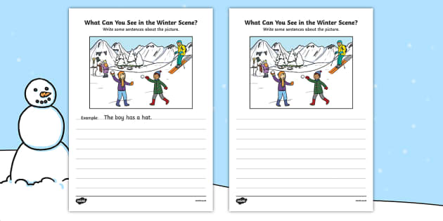 Winter Scene Writing Stimulus Picture - winter scene, writing stimulus, picture, writing, write, stimulus, winter, scene, activity