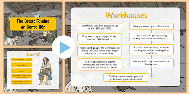 The Great Famine Informative PowerPoint - gaeilge, the famine, great famine, powerpoint, questions, worksheet, ireland history