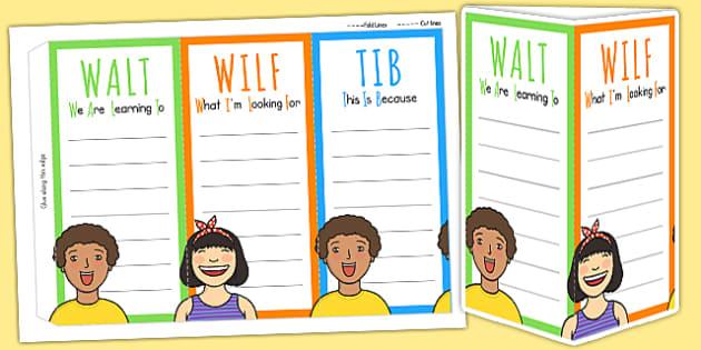 WALT WILF TIB Standing Tabletop Target - class management